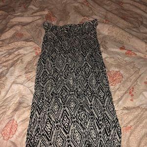 Tube top printed dress